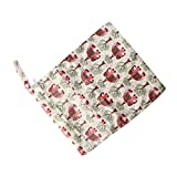 Waterproof Resuable Wet Dry Baby Diaper Bag Organizer Dual Zipper Elephant Pattern