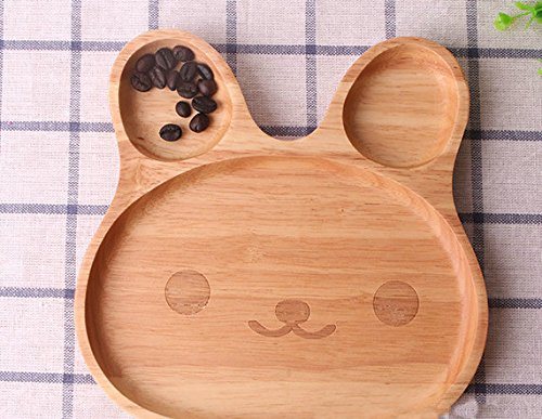 Natural Bamboo Baby Feeding Set 3pcs Includes Plate, Spoon and Fork,BPA Free Infant and Kid Friendly - 7.8'' (1)