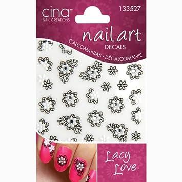 Amazon Cina Nail Creations Lacey Love 3d Nail Art Jewelry