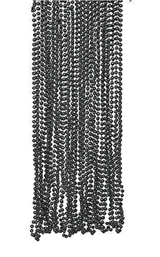 (Fun Express Glossy Finish Black Beads Necklaces (8 Dozen))