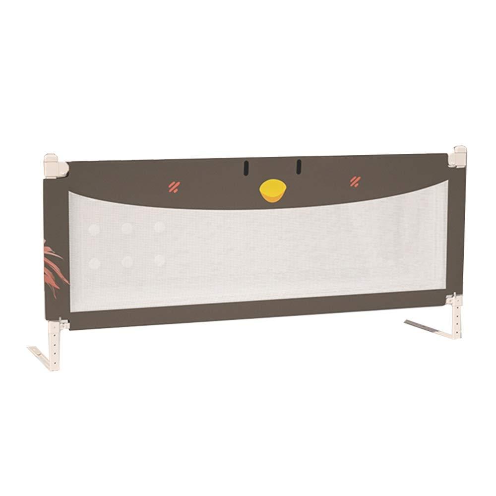 LHA ベッドガードフェンス 子供の落下防止ベッドガードレール飛散防止ベッドフェンスベビーユニバーサルセーフティリフトベッドバッフル150センチ、180センチ、200センチ (色 : Brown, サイズ さいず : L-200cm) L-200cm Brown B07Q25J7VN