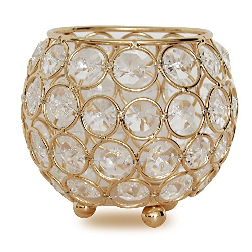 [VINCIGANT Gold Votive Candle Holders Wedding Centerpieces Candelabra for Dinning Room Table Decoration 4 Inch Diameter] (Candle Table Decorations)