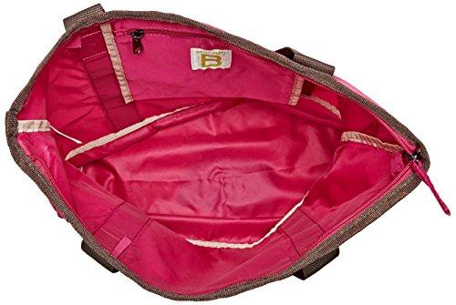 Bensimon Damen Zipped Tote Schultertasche, Pink (Rose Framboise), 11x32x45 cm