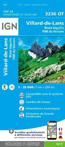 IGN Villard-De-Lans/Mont Aiguille/PNR du Vercors - Carte topographique