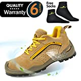 SAFETOE Mens Safety Work Shoes - L7296 Leather & Steel Toe Work Boots