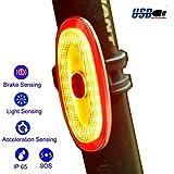 G Keni Bike Taillight Wireless Rear Bike Light USB Rechargeable LED Bicycle Brake Smart Warning Tail Light Daylight Sensing Waterproof