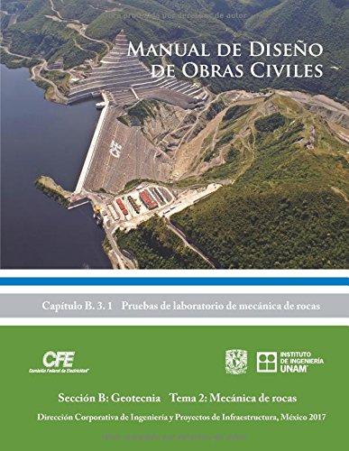 Manual de Diseño de Obras Civiles Cap. B.3.1 Pruebas de Laboratorio de Mecánica de Rocas: Sección B: Geotecnia Tema 2: Mécanica de rocas