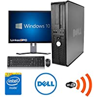Dell Optiplex 3.0 GHz Core 2 Duo, 4GB DDR3, 250GB HDD, DVD-RW, Windows 10, 19 In. Monitor - NEW Wireless device, WIFI, Speakers-(Certified Reconditioned)