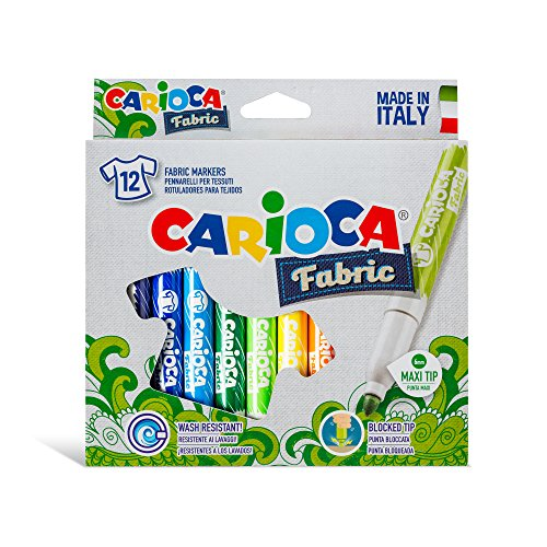 CA-RIO-CA Carioca Cromatex T-Shirt Fabric Markers (Set of 12 Markers)