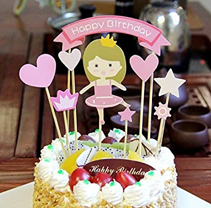 Amazon PureArte Happy Birthday Cake Topper For Princess Party