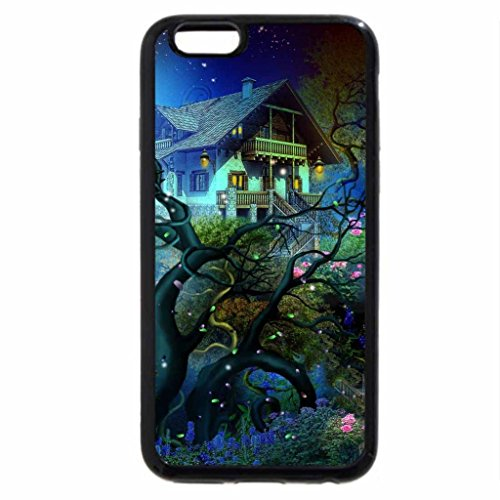 iPhone 6S Plus Case, iPhone 6 Plus Case, Blue Winter Cottage
