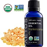 Aetos Organic Frankincense Oil, USDA Certified Organic Essential Oils, Non GMO, 100% Pure, Natural, Therapeutic Grade Essential Oil,Best Aromatherapy Scented-Oils for Home, Office, Personal Use - 1 Oz