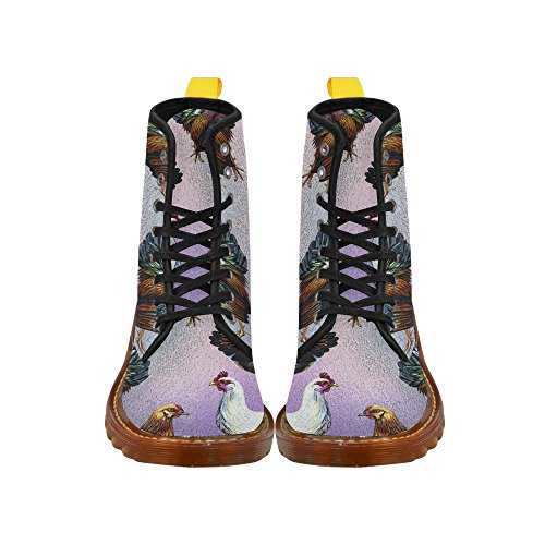 D Multicoloured18 Fahion for Women Lace Story Shoes up Boots 6qgz1w6