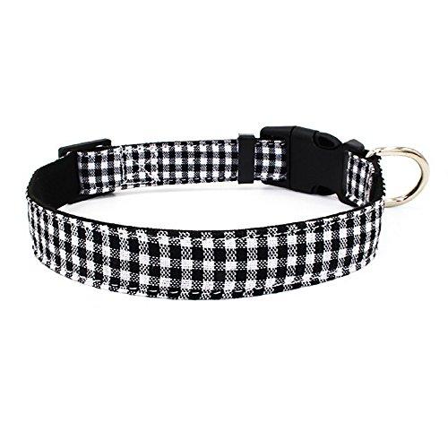 Hpapadks Pet Collar Buckle Collar Adjustable,Microfiber Pet Dog Adjustable Collar Cat Puppy Necklace Designer Pet Collars (Elvis Buckle)