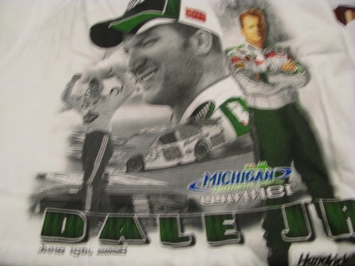 Dale Earnhardt Jr #88 Chase Authentics White Michigan 1st Win Michigan International Speedway June 15, 2008 With New #88 Hendrick Motorsports Car of Tomorrow COT Size Large (International Speedway Nascar Michigan)