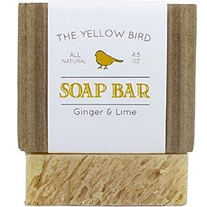 Ginger Lime Soap Bar. Gentle Aloe Vera Soap for Dry Sensitive Skin. Handmade Artisan Soap Bar for Body & Face. All Natural Antioxidant Soap for Acne, Eczema, & Blemishes.