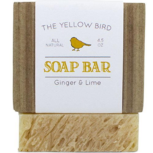 Ginger Lime Soap Bar. Gentle Aloe Vera Soap for Dry Sensitive Skin. Handmade Artisan Soap Bar for Body  Face. All Natural Antioxidant Soap for Acne, …