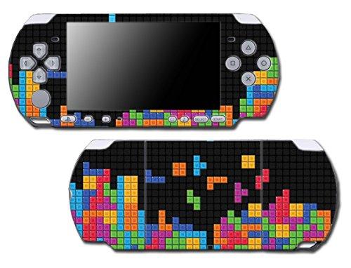 Retro Arcade Game Boy Tetris Blocks Original Art Video Game Vinyl Decal Skin Sticker Cover for Sony PSP Playstation Portable Slim 3000 Series System (Game Boy Psp)