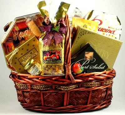 Elegant Gourmet Sausage, Cheese, and Treats Gift Basket | Office Gift Basket Birthday Gift Basket by Organic Stores