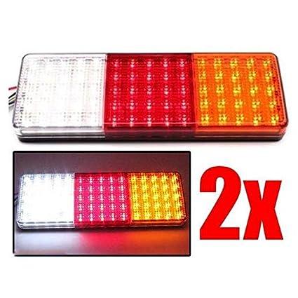 Indicatore di arresto della barca del camion del caravan del rimorchio delle luci della coda di 2pcs set 12-24V 75 LED 12V