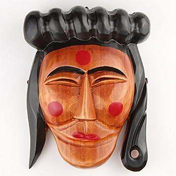 Real Human Face Size Korea Traditional Hahoe Mask Gaksi Bride