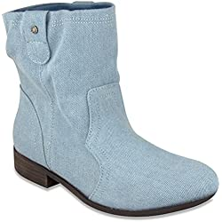 Sugar Womens INTUIT Western Inspired Slouch Boot 7.5 Denim