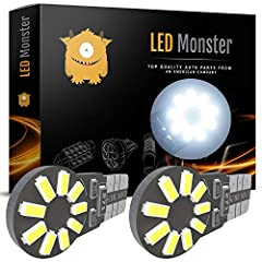 LED Monster Customer Service is available 24/7 to answer your questions. Please contact us directly with any issues! PLEASE REFERENCE YOUR OEM BULBS FOR COMPATIBILITY BEFORE BUYING Specifications: Base: T10 194 168 Input: DC 12V LED Type: 401...