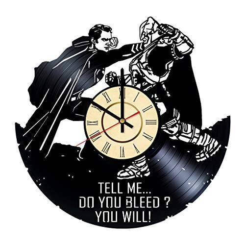 Batman v Superman Vinyl Clock Gifts for DC Comics Fans Dawn of Justice Living Room Wall Decor