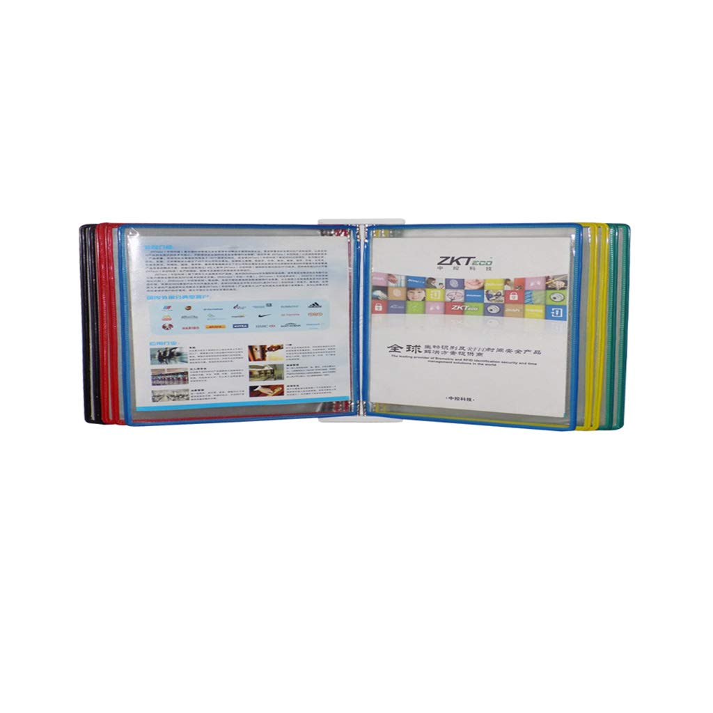 Flip File Holder, Wall-Mounted Magnetic Display (PVC+Metal) 332310CM (Color : E)