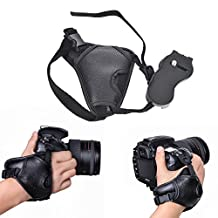 Itian PU Leather Stabilizing Ergonomic Hand Grip Wrist Strap Band for Nikon/ Canon/ Sony/ Pentax/ Minolta/ Panasonic/ Olympus/ DSLR Digital Cameras
