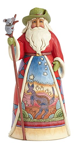 Jim Shore for Enesco Heartwood Creek Australian Santa Figurine, - Hours The Shore Store