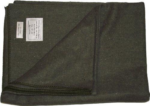 New Military Militär Army Style Heavy Wolle Decke (Olive Grün)