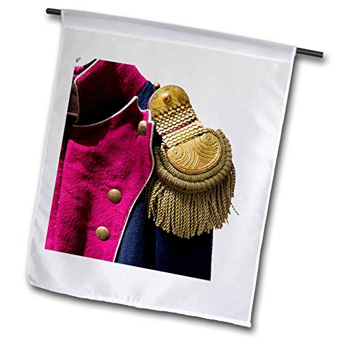 3dRose Alexis Photography - Objects Vintage Fashion - Detail of a Military Uniform of Napoleon Wars era with an Epaulet - 18 x 27 inch Garden Flag (fl_308104_2)