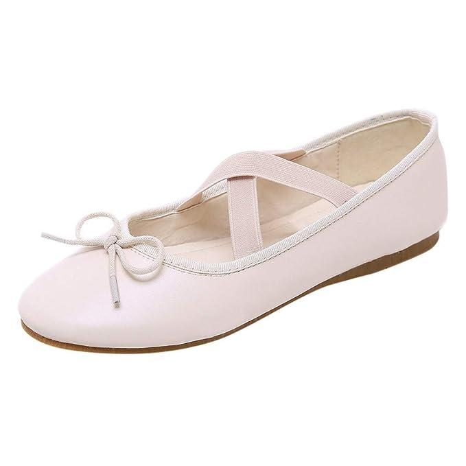 LANSKRLSP Scarpe Donna Ballerine Casual Bocca Superficiale Scarpe Singole  Piatto Elegante Ballerine Flat Scarpe  Amazon.it  Abbigliamento 673316375da