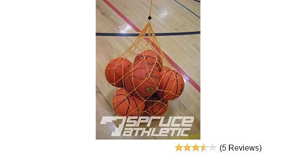 Holds 10 Soccer Balls Lightweight Netted Ball Bag Spruce Athletic LWBB
