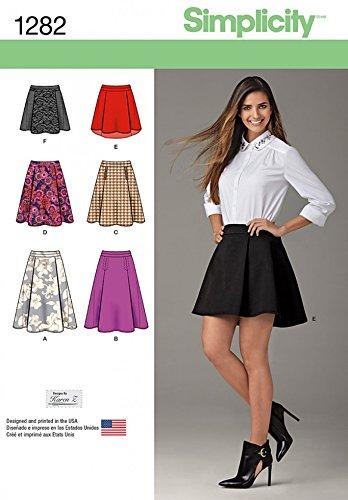 Simplicity Damen Easy Schnittmuster 1282nbsp;Röcke in 6nbsp;Styles ...