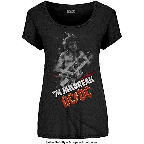 Ladies ACDC Jailbreak Angus Young Rock officiel Femmes Dames T-shirt