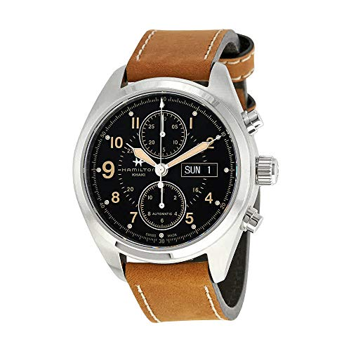Hamilton Khaki Field Black Dial Automatic Mens Chronograph Watch H71616535