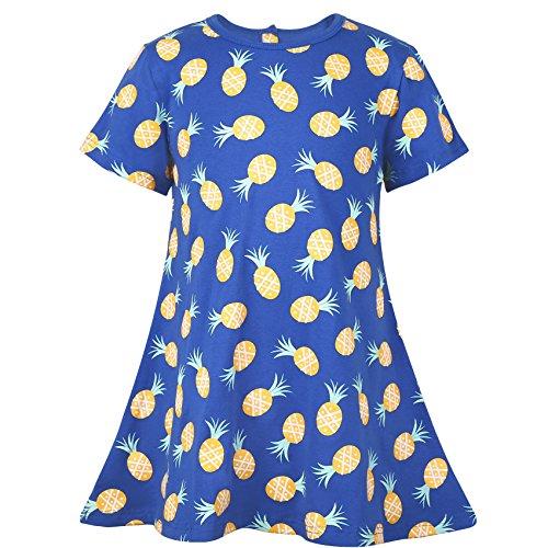 Ephex Children Girl's Short Sleeve Animal Print Skater Dress (Animal Dress For Kids)