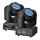 Eyourlife Double Face 8 x 10W Moving Head LED Effect Disco Light RGBW 4 in 1 DMX Head-Moving Light for DJ Bar Events Club Wedding Party Lighting