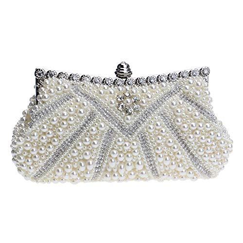 Perle Soirée Coquille Diamant Bal Clutch De à Femme Perlé Sac Beige Pochettes Faux Sac Mariage Main Fête fAwqEB