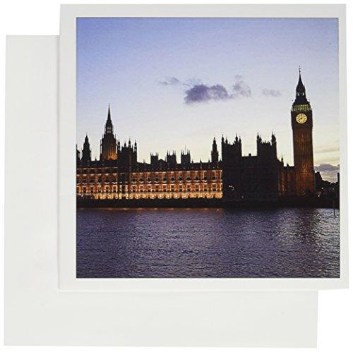 3dRose Greeting Cards, Big Ben, Houses of Parliament, London, England, Eu33 Dfr0097, David R. Frazier, Set of 6 (gc_82742_1) (England London Houses)
