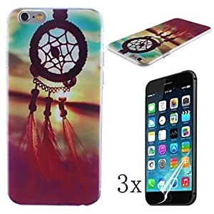 ZXSPACE The Sundowners Pattern Hard Case with High Cleaning Cloth To Remove The Screen Protector for iPhone 6 [3 Pack]