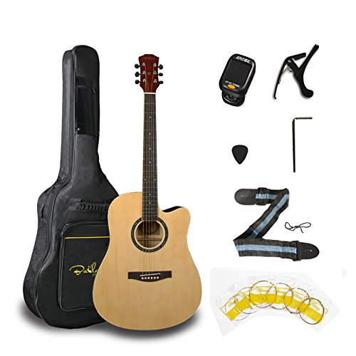 Bailando 41 Inch Full Size Acoustic Electric Cutaway Guitar,