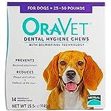 Cheap Merial Oravet Dental Hygiene Chew for Medium Dogs (25-50 lbs), Dental Treats for Dogs, 14 Count