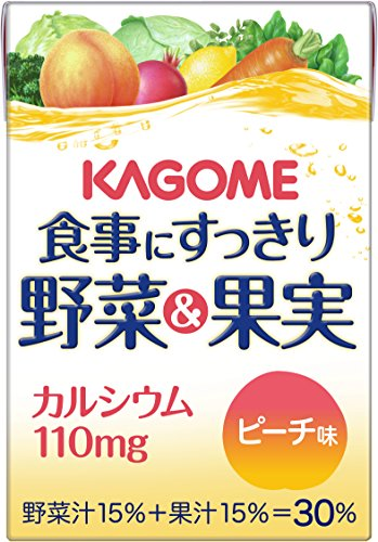 Kagome 100mlX36 this clean vegetables and fruit calcium Peach taste to meal by Meal to clean vegetables & amp; fruit