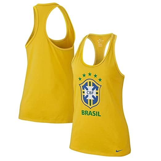 c9c189df26add Image Unavailable. Image not available for. Color: NIKE Cotton Brazil Graphic  Racerback Tank ...