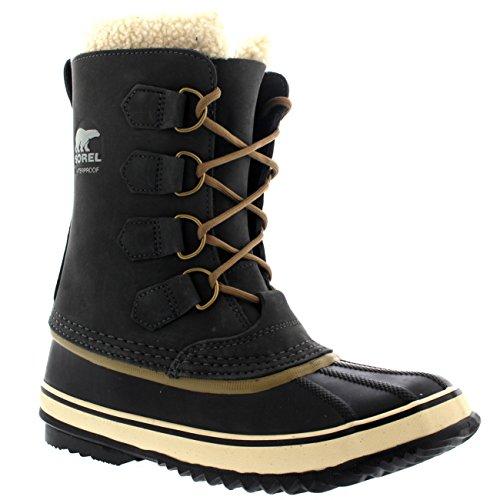 Sorel Womens 1964 Pac 2 Rain Winter Snow Waterproof Mid Calf Duck Boots - Coal - 5/36