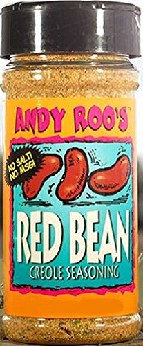 Cajun Small Red Beans - Andy Roo's Salt-Free Red Bean Creole Seasoning, 4 Ounce Shaker