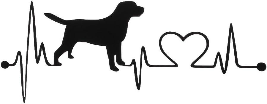 Mya Autoaufkleber Motiv Herz Retriever Labrador Retriever Kreatives Autozubehör Küche Haushalt